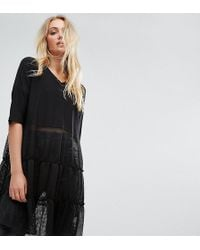 Noisy May Tall - Tiered Lace Dress - Lyst
