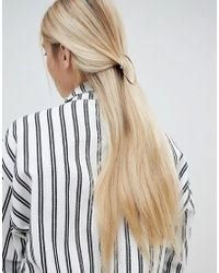 Monki - Circle Hair Clip In Gold - Lyst