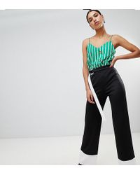 Boohoo - Contrast Pant With Tie - Lyst