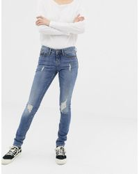Blend She - Nova Jappa Destroyed Skinny Jeans - Lyst