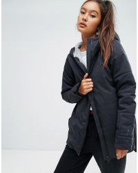 Reebok - Classics Padded Jacket With Hood In Black - Lyst