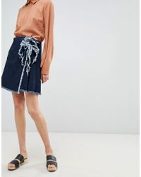 WÅVEN - Tilda Mini Skirt With Tie Side - Lyst