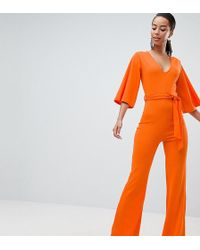 Missguided - Belted Jumpsuit - Lyst