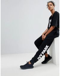 Ivy Park - Logo Joggers In Black - Lyst
