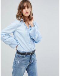 Vila - Tiered Sleeve Shirt - Lyst