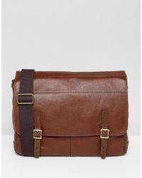 Fossil - Messenger Bag In Leather - Lyst