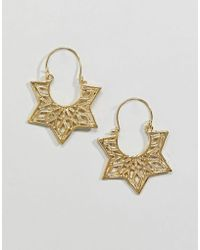 ASOS - Design Cut Out Spike Edge Hoop Earrings - Lyst