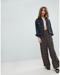 Free People - Easy Peasy Printed Wide Leg Trousers - Lyst