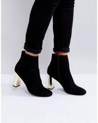 Miss Kg | Gold Heel Boots | Lyst
