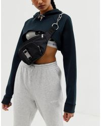 ASOS - Seat Belt Buckle And Chain Detail Fanny Pack - Lyst