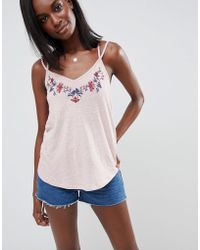 Abercrombie & Fitch - Embroidered Tank - Lyst