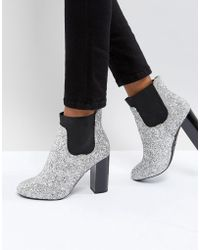 Call It Spring - Glitter Heeled Ankle Boots - Lyst