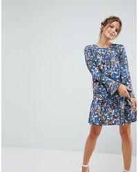Closet - Wardrobe Floral Pephem Dress - Lyst