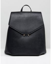 Mango - Clean Faux Leather Back Pack - Lyst