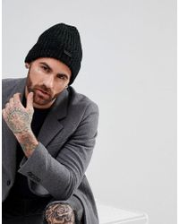 Ben Sherman - Beanie Hat With Reflective Marl - Lyst