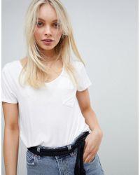 Hollister - Drapey Easy Pocket T-shirt - Lyst