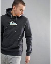 Quiksilver - Big Logo Hoodie In Dark Grey - Lyst