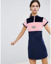 Lazy Oaf - Velour Dress With Neck Zip - Lyst