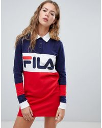 Fila - Long Sleeve Rugby Dress In Colour Block - Lyst