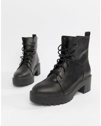 ASOS - Raider Chunky Lace Up Boots - Lyst