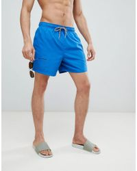 New Look - Swim Shorts In Bright Blue - Lyst