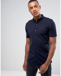 Jack & Jones - Premium Short Sleeve Jersey Shirt - Lyst