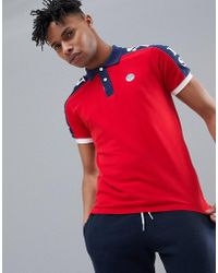 North Sails - Polo Shirt With Sleeve Print In Red - Lyst