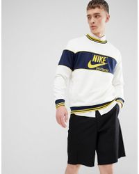 Nike - Archive Long Sleeve T-shirt In White Ah0715-133 - Lyst