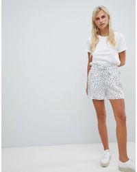 Vila - Spotty Shorts - Lyst