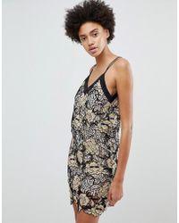 N12H - Vestido camisola de encaje Midnight Blooms de - Lyst