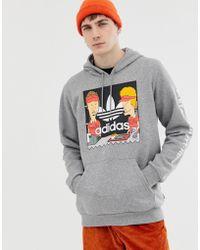 adidas Originals - Beavis And Butthead Logo Hoodie Gray Du2859 - Lyst