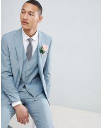 Moss Bros - Moss London Skinny Wedding Suit Jacket In Sage - Lyst