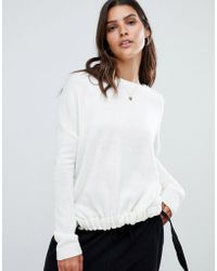 Micha Lounge - Ruched Front Jumper With Tie Detail - Lyst