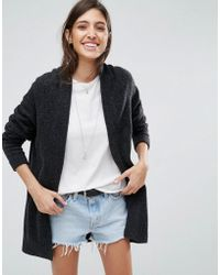 ASOS - Chunky Knit Cardigan In Wool Mix - Lyst