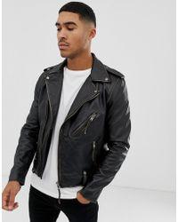 Bolongaro Trevor - Biker-Jacke mit getragenem Effekt - Lyst