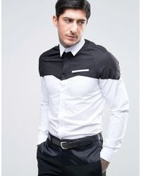 Rogues Of London - Skinny Cut And Sew Cowboy Shirt - Lyst