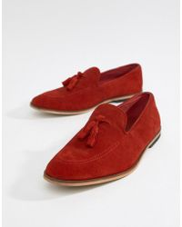 f04c2b1e20b Lyst - ASOS Driving Shoes In Bright Red Suede in Red for Men