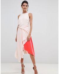 Coast - Kai Colourblock Soft Flow Dress - Lyst