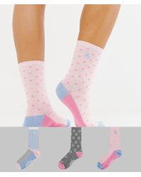 Original Penguin - 3 Pack Sock Gift Box In Pink And Grey - Lyst