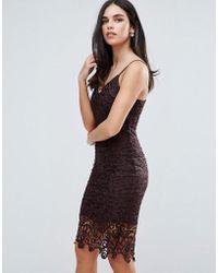 AX Paris | Lace Midi Bodycon Dress | Lyst