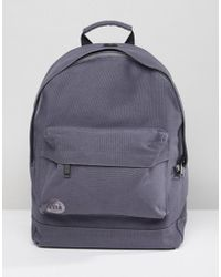Mi-Pac - Canvas Backpack In Charcoal - Lyst
