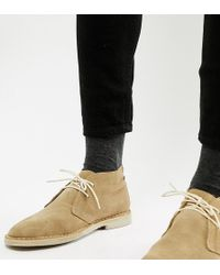 ASOS - Desert Boots In Stone Suede - Lyst