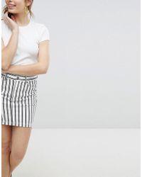 Monki - Striped Mini Skirt - Lyst
