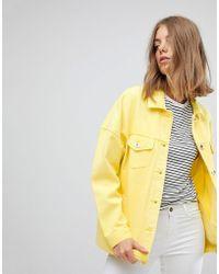Vero Moda - Coloured Denim Jacket - Lyst