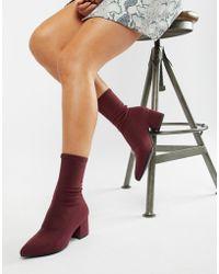 Vagabond - Mya Stretch Sock Boot In Wine - Lyst