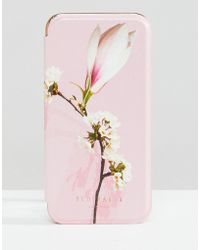 Ted Baker - Tablet Iphone 8 Mirror Case In Harmony Floral - Lyst