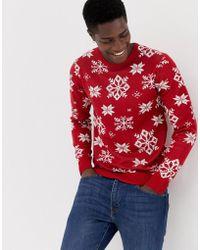Jack & Jones - Originals Knitted Christmas Jumper - Lyst