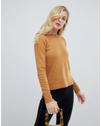 Oasis - Rib Shoulder Crew Neck Jumper - Lyst