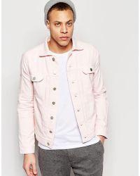 WÅVEN - Denim Jacket Axel 2 Pocket Pale Pink - Lyst