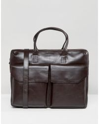 Royal Republiq - Courier Laptop Bag In Leather With Double Pocket - Lyst